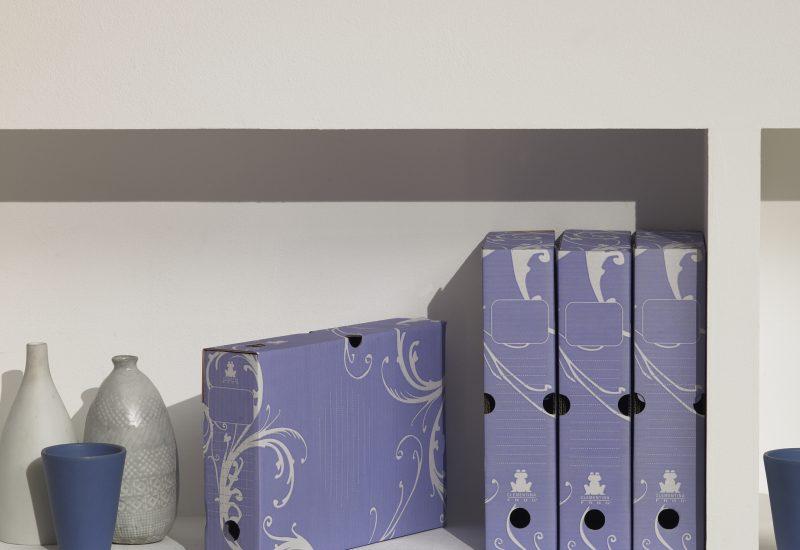 boites archives arabesque bleu